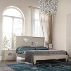 Moderno. Camera da letto mod. Decor. Laccato bianco, poro aperto.